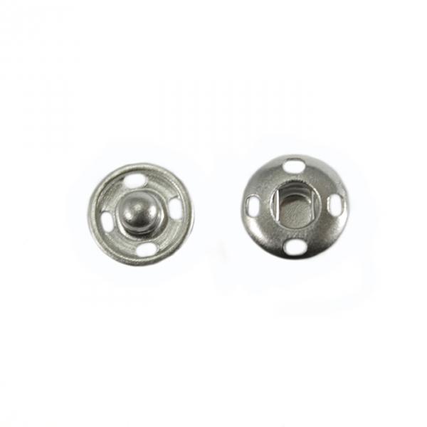 Кнопка пришивная никель, 10мм