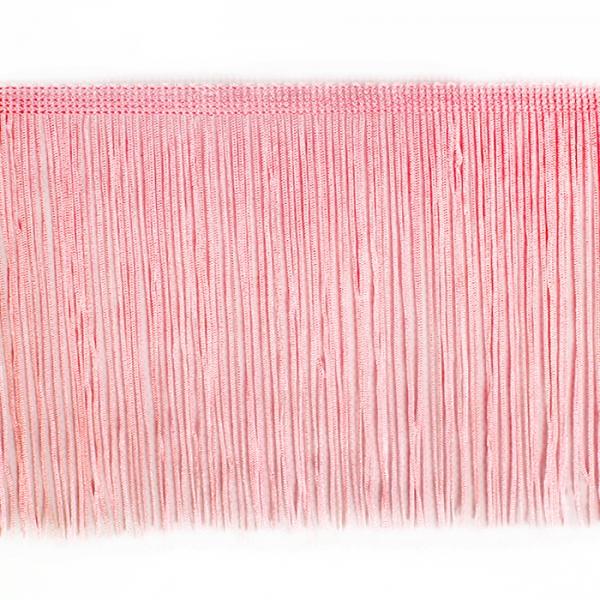 Бахрома танцевальная розовая, 15 см