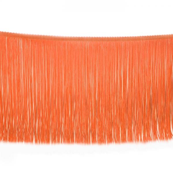 Бахрома танцевальная оранжевая, 15 см