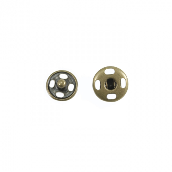 Кнопка пришивная антик, 8 мм