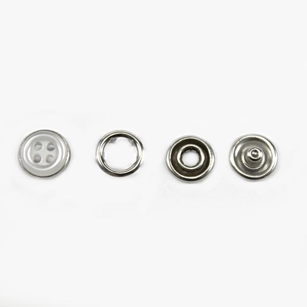 Кнопка трикотажная белая, 9.5 мм