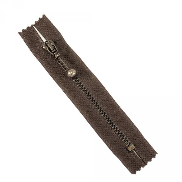 Молния Lux коричневая, 10 см