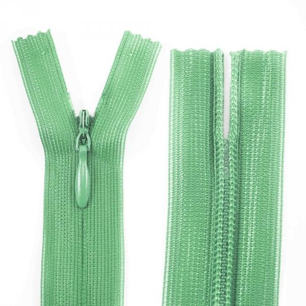 Молния Lux зеленая потайная, 34 см