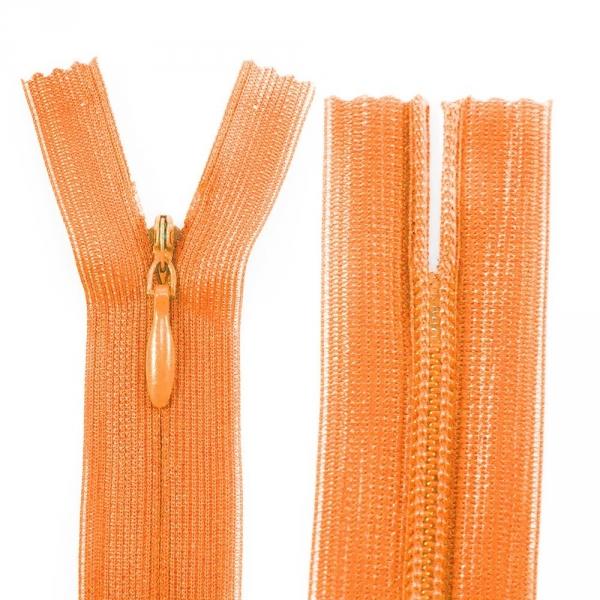 Молния Lux оранжевая потайная,18 см
