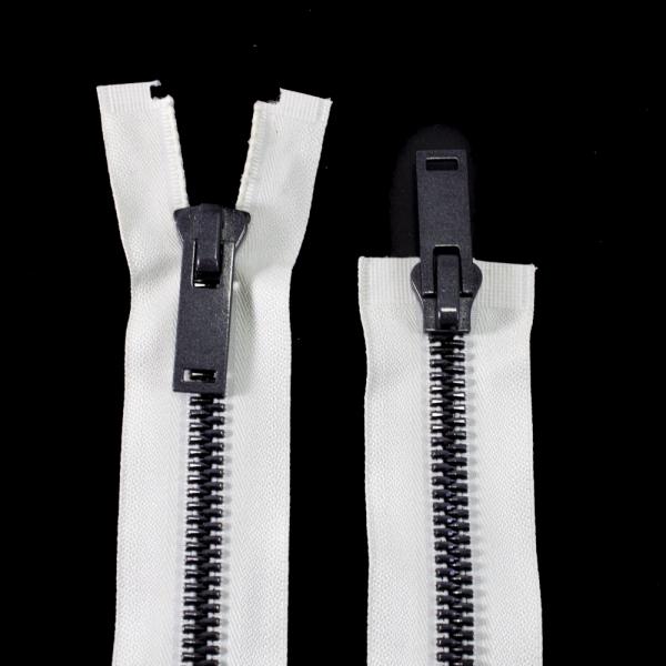 Молния Lux бежевая+черная, 100 см