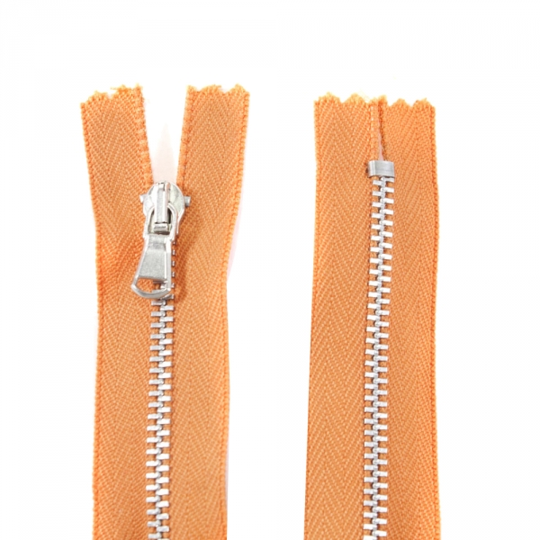Молния Lux оранжевая+никель,20 см
