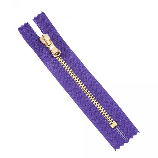 Молния Pinko фиолетовая+золото, 10 см