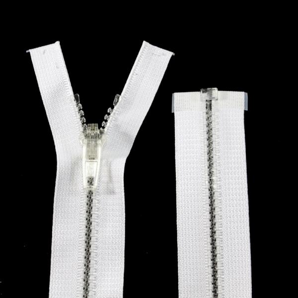 Молния Lux белая+прозрачная, 57 см