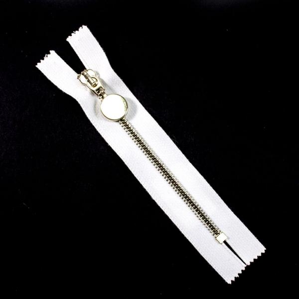 Молния Lux белая+золото,14 см