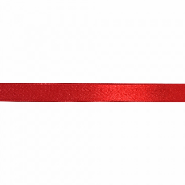Лента атласная красная, 2 см
