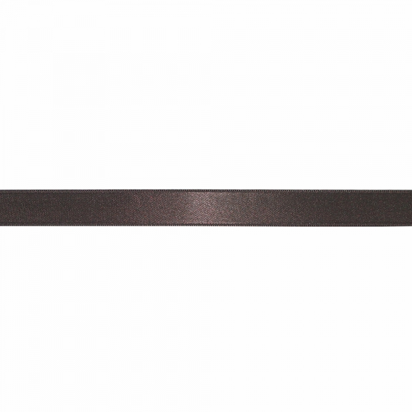 Лента атласная коричневая, 2 см