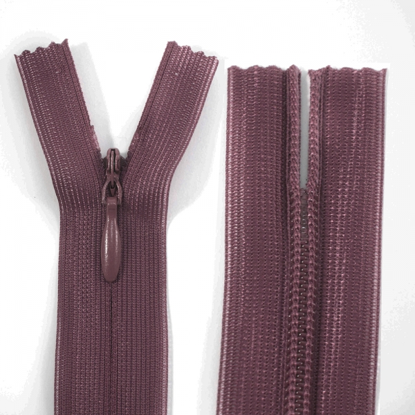 Молния Lux темно-бордовая потайная,15 см