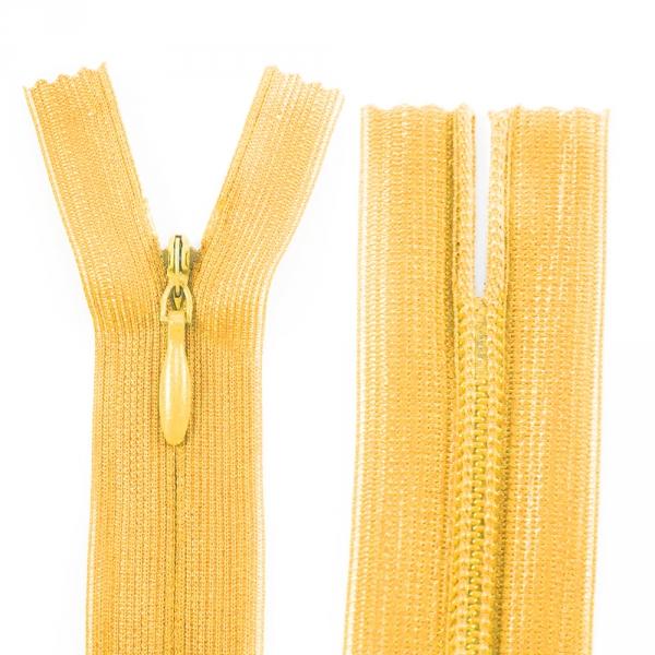 Молния Lux желтая потайная, 22 см