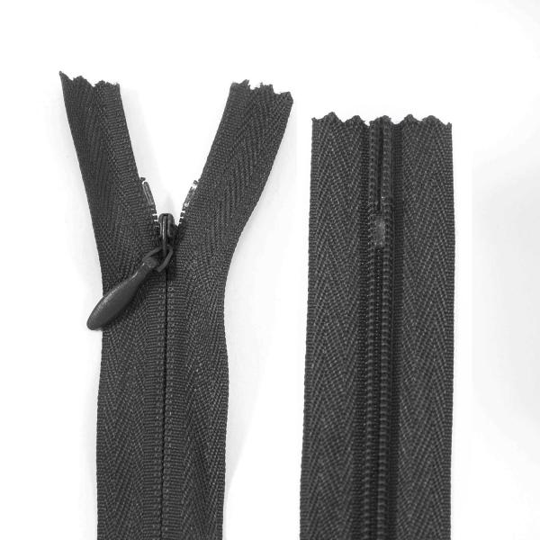 Молния Lux черная потайная, 60 см
