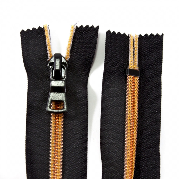Молния Lux черная+бронза, 20 см