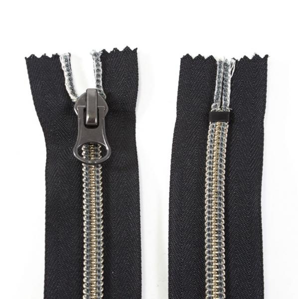 Молния Lux черная+серебро, 19 см
