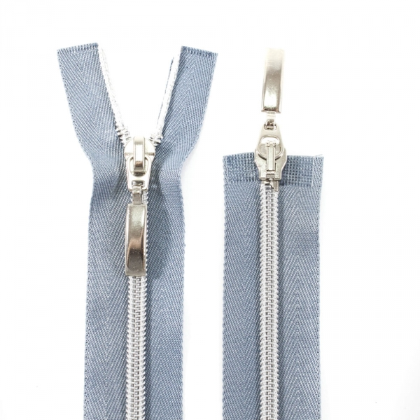 Молния Lux серая+серебро, 50 см