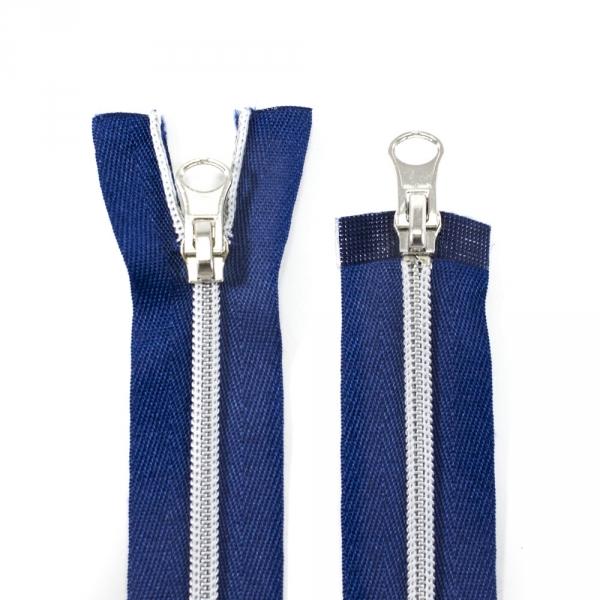 Молния Lux синий+серебро, 50 см