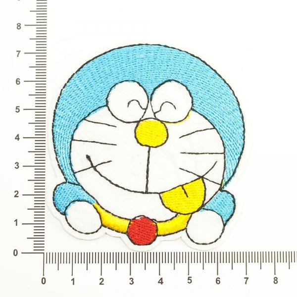Аппликация клеевая веселый кот голубой