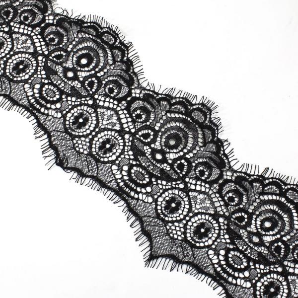 Кружево Zira шантильи, черное  8-10 см
