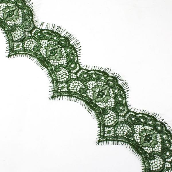 Кружево Zira шантильи, зеленое 5-6 см