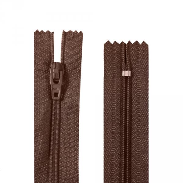 Молния Lux коричневая, 18 см