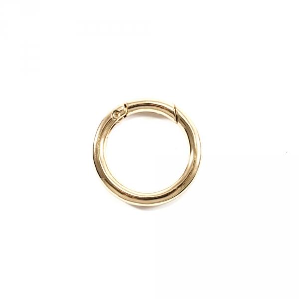 Карабин кольцо золотой, 25 мм, металл