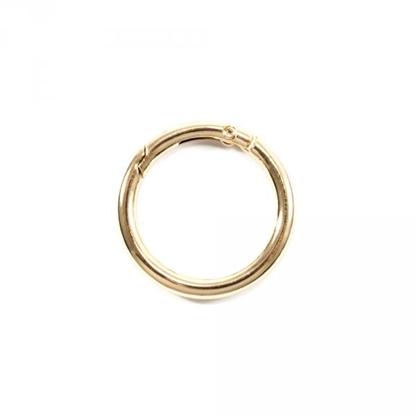 Карабин кольцо золотой, 30 мм металл