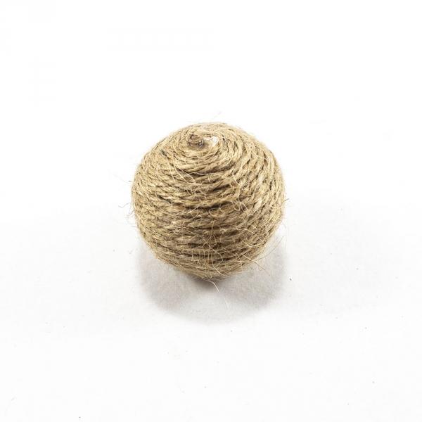 Декор из джута шарик, 30 мм