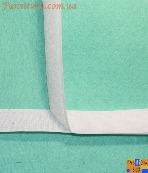 Липучка (текстильная застежка) белая, 2 см