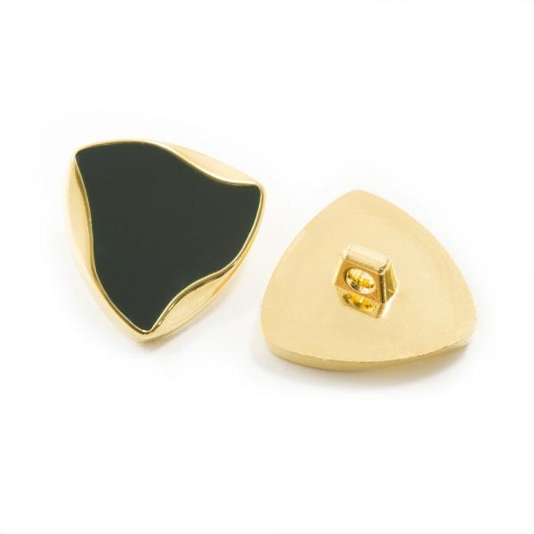 Пуговица золотая + чёрная, 24 мм