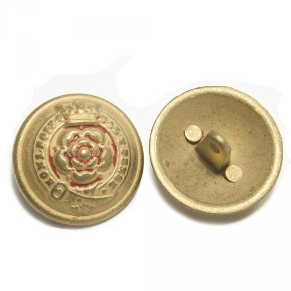 Пуговица золотая, металл, 24 мм
