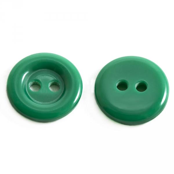 Пуговица зеленая, 16 мм