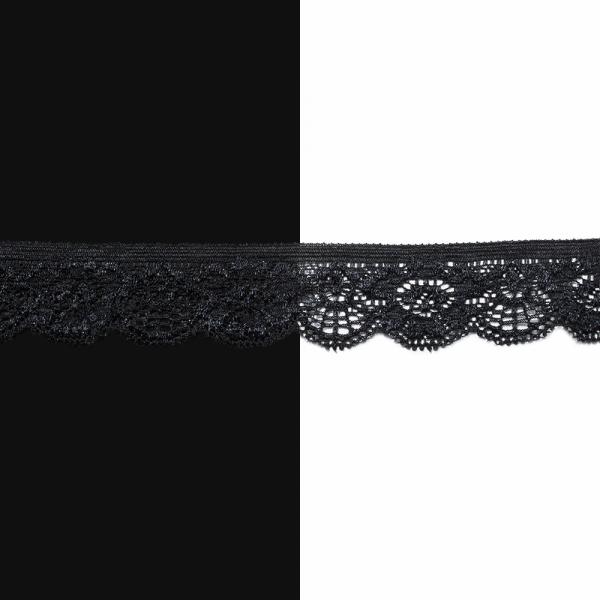 Кружево  2.5 см, черное