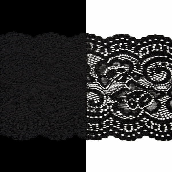 Кружево 10 см, черное