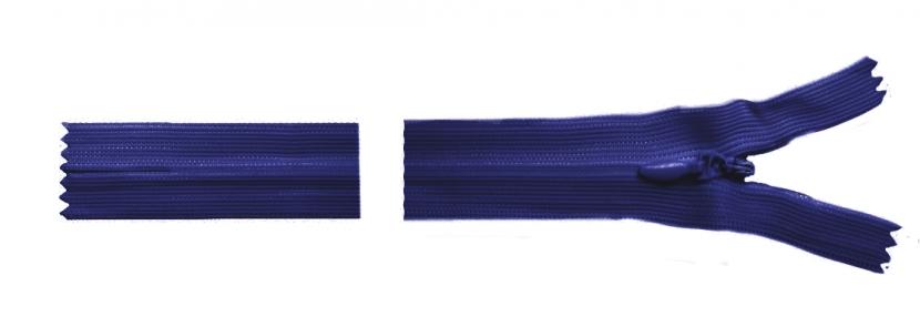Молния темно-синяя потайная, 18 см