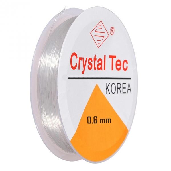 Нитка резинка для бисера 0,6 мм, белая