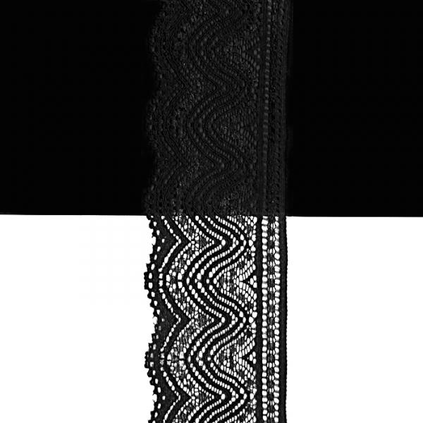 Кружево черное,  5 см