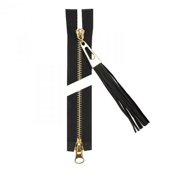Молния Lux черная + золото, 80 см