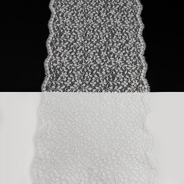 Кружево Италия белое, 17 см