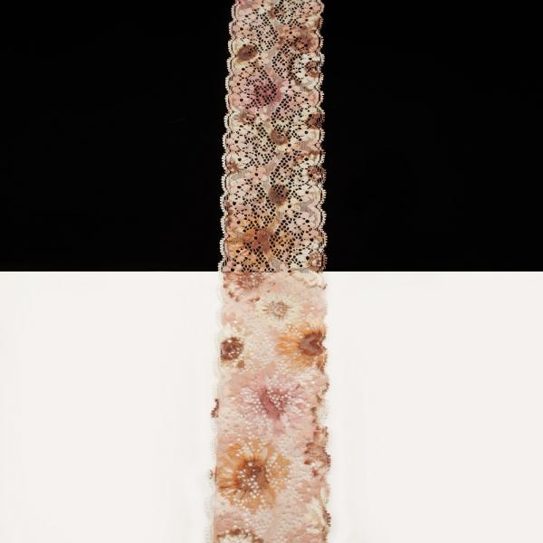 Кружево Италия бежевый мультиколор, 6 см