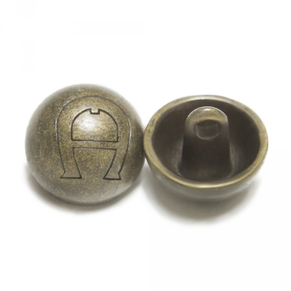 Пуговица бронзовая, 14 мм