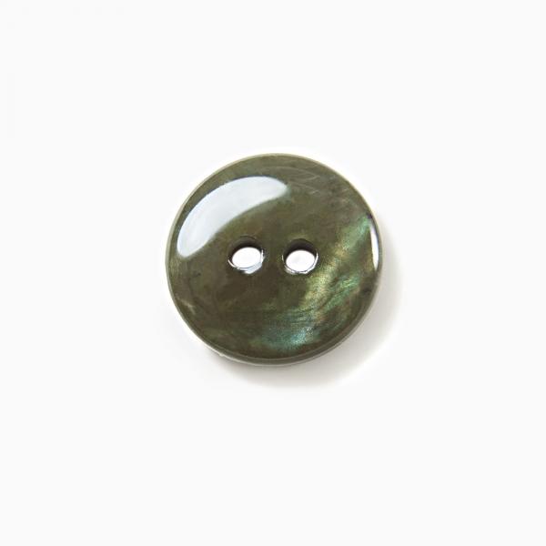 Пуговица зеленая перламутровая, 16 мм