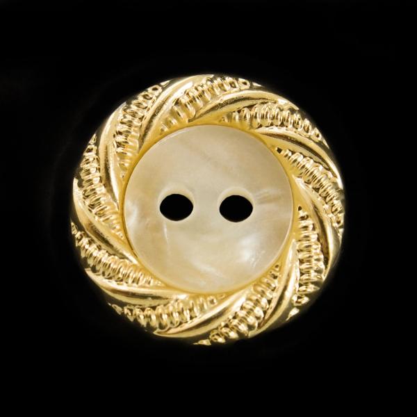 Пуговица золотая, 16 мм