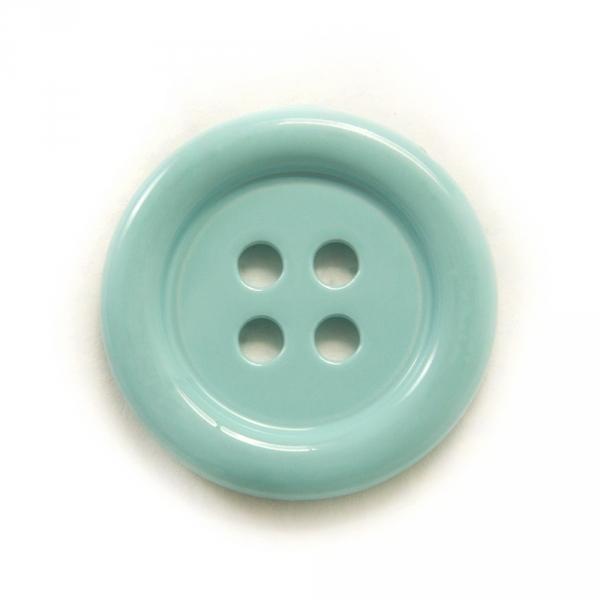 Пуговица голубая металл, 18 мм