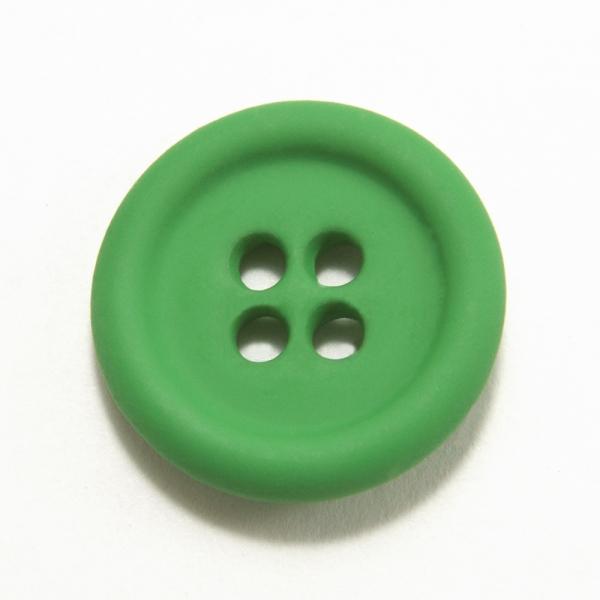 Пуговица зеленая металл,16 мм
